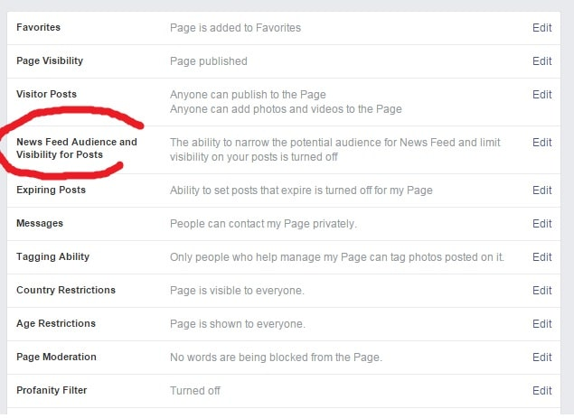 facebook newsfeed visibility