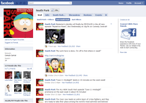 south park facebook page