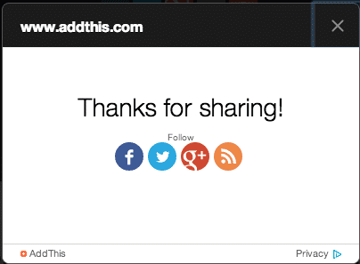 addthis thank you buttons