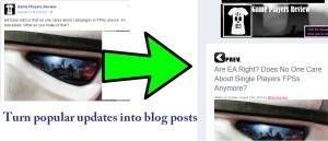 turn popular facebook posts into blog posts