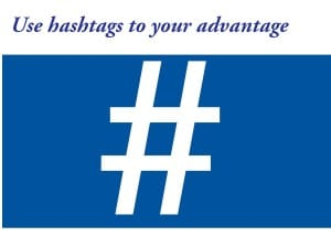 using hashtags on twitter