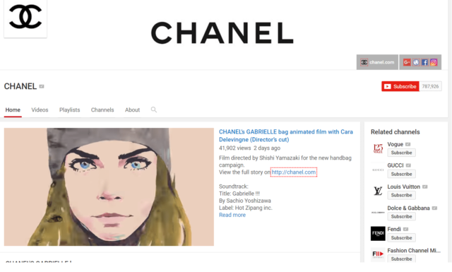 chanel youtube channel