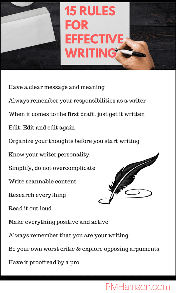 15 Rules For Effective Writing