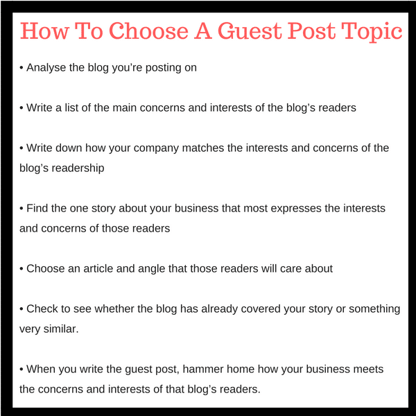 how to choose a topic for guest posts
