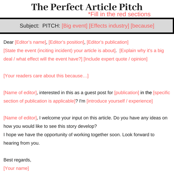 how to pitch a blog editor